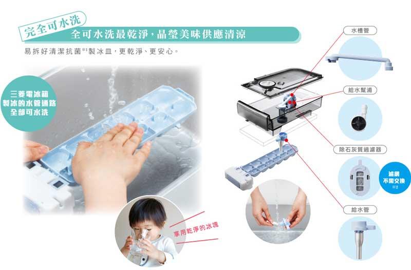 三菱製冰管路可水洗