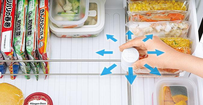 SHARP冰箱 冷凍 十字隨手格