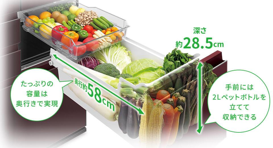 SHARP冰箱蔬果室